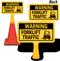 Warning Forklift Traffic ConeBoss Sign