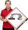 Global Harmonized System Corrosive Hazard Pictogram ISO Sign