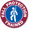 FALL PROTECTION TRAINED Hard HAT DECAL