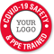 Safety And PPE Trained Add Logo Custom Hard Hat Sticker