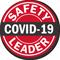 Safety Leader Red Hard Hat Label