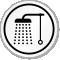 Bathroom Shower Symbol ISO Circle Sign