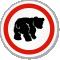 Bear ISO Circle Sign