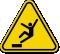 ISO Drop, Fall Hazard Symbol Warning Sign