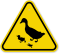 ISO Duck and Ducklings Crossing Symbol Warning Sign