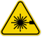 ISO Laser LED Radiation Symbol Warning Sign