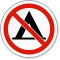 No Camping Symbol ISO Prohibition Circular Sign