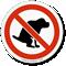 No Dog Poop ISO Sign