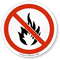 No Fire Open Flame ISO Sign