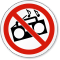 No Loud Music Symbol ISO Prohibition Circular Sign