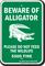Beware of Alligator, Florida Alligator Warning Sign