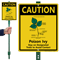 Caution Poison IVY Stay On Trails LawnBoss Sign