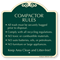 Compactor Rules No Toxic or combustible Materials Sign