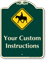Custom Horse Safety Instructions Signature Sign