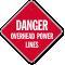 Overhead Power Lines Danger Sign