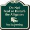 Do Not Feed or Disturb Alligators Signature Sign