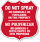 Do Not Spray Chemical Fertilizer Bilingual Shield Sign