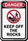 Keep Off The Rocks Osha Sign