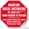 Maintain Social Distancing When Dropping Kids Sign