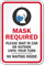 Mask Required Wait In Car Or Outside Until Your Turn Sign