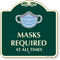 Masks Required At All Times Signature Sign