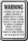 Montana Equine Liability Sign