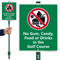 No Gum Candy Food Or Drinks LawnBoss Sign