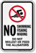 No Swimming Do Not Feed Alligators Sign