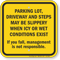 Parking Lot Driveway And Steps May Be Slippery Sign