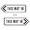 This Way In Directional Sign