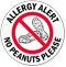 Allergy Alert No Peanuts Please Door Decal
