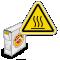 ISO Burn Hazard Hot Surface Grab-a-Labels Dispenser Box