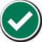 Green Tick Marking Label