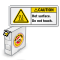 ISO Hot Surface Do Not Touch Grab-a-Labels Dispenser