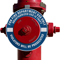 Unauthorized Use Is Theft Fire Hydrant Ring - Blue