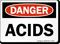 Acids OSHA Danger Sign