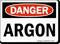 Danger Argon Sign