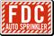 FDC Auto Sprinkler Striped Sign
