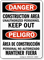 Construction Area Unauthorized Personnel, Keep Out Bilingual Sign