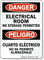 Bilingual Electrical Room No Storage Permitted Sign