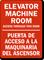 Elevator Machine Room Access Door Bilingual Sign