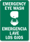 Emergency Bilingual Eye Wash Sign