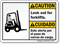 Bilingual Look Out For Forklifts ANSI Caution Sign