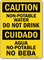 Bilingual Non-Potable Water Do Not Drink Sign