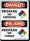 Propane No Smoking, Propano No Fumar Bilingual Sign