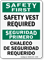 Bilingual Safety Vest Required Sign