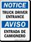 Bilingual Truck Driver Entrance Entrada De Camionero Sign
