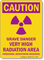 Caution: Grave Danger Very High Radiation Area Sign