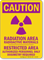 Caution Radiation Area Radioactive Material Warning Sign