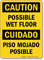 Caution Wet Floor Bilingual Sign